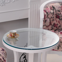 Custom soft glass PVC waterproof mat transparent round table cloth tablecloth with frosted crystal plate FREE(China)