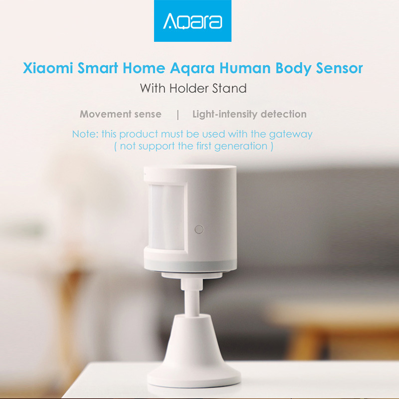 Original Xiaomi Aqara Smart Home Human Body Sensor ZigBee Holder Home 7m Detection Distance Motion Sensor Wireless Mihome App 2