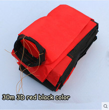 Free Shipping Outdoor Fun Sports Kite Accessories /30m Red with Black  3D Tail For Delta kite/Stunt /software kites Kids Gift