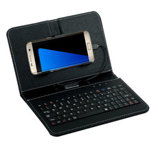 Best Price General Wired Keyboard Flip Holster Case For Andriod Mobile Phone 4.2''-6.8''(China)