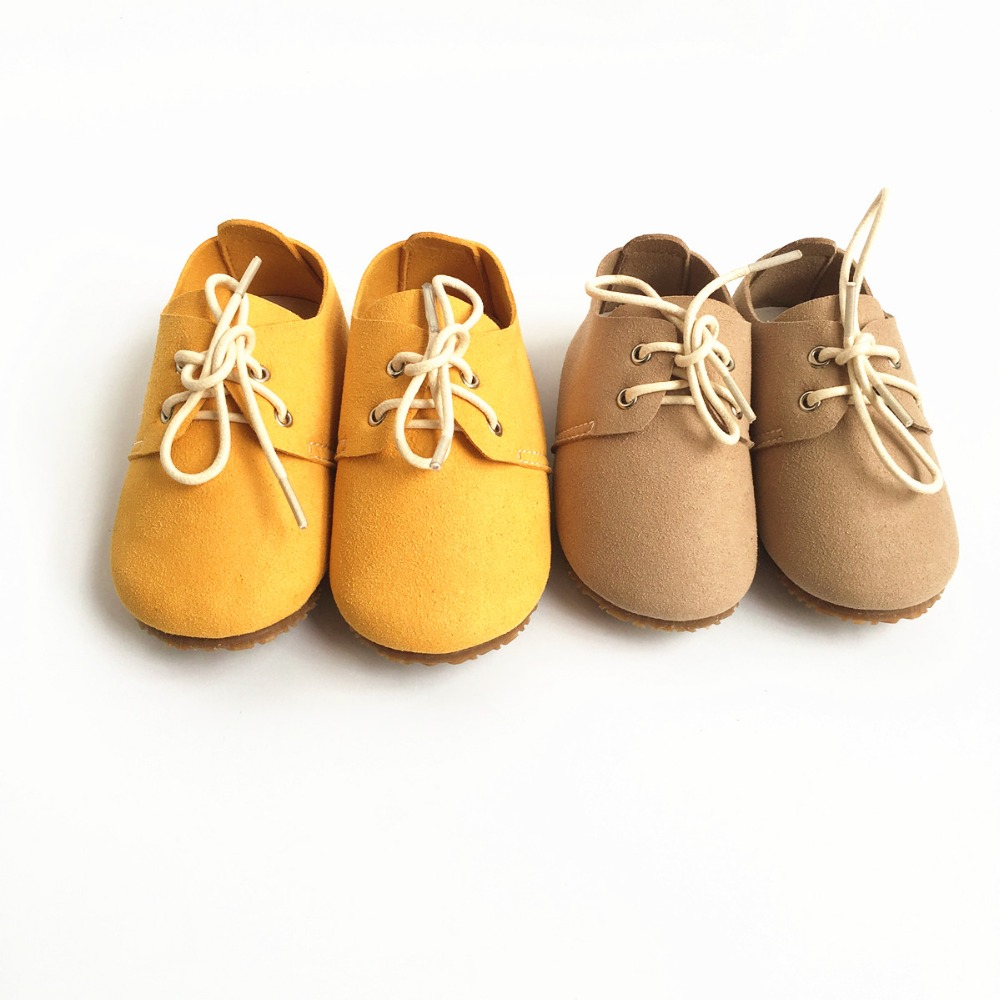 Genuine Leather Baby shoes Suede First Walkers indoor non-slip Toddler Baby moccasins lace-up bebe Shoes<br><br>Aliexpress