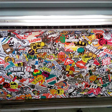 Premium JDM Euro Style Stickerbomb Vinyl Car Wrap Sticker Bombing Air Bubble Free Vehicle Wrap Graphics