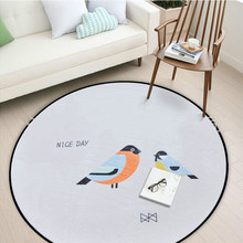Nordic style Round Mat Carpet Kids Baby Play Mat Super Soft Coral Fleece baby carpet kids room carpet 60/80/100/120/150CM