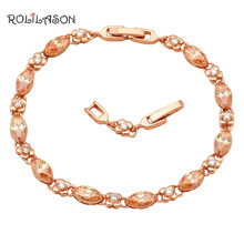 Elegant Gold Tone Bracelets Design AAA Cubic zirconia Champagne Crystal Health Fashion jewelry TB521(China)