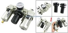 Free Shipping 2PCS/Lot SMC '' Metal Air Source Treatment Unit Filter Regulator 3 Pieces Combination With Cover  AC5000-10