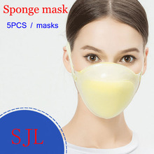 5PCS sponge respirator dust mask KN90 Protection level dust mask against dust particulates Cement dust PM2.5 respirator mask(China)