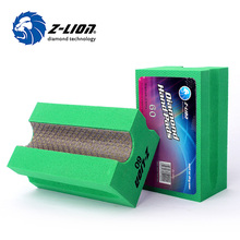 Z-LION V20 Diamond Hand Pads Foam Backer U Style Electroplated Hand Polishing Pad Stone Concrete Metal Hard Alloy Grinding Bock(China)
