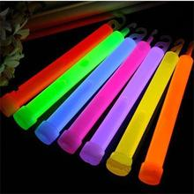 1pcs 6 inch Glowing Stick Chemical Glow Stick Light Stick Outdoor Camping Emergency Lights Party Christmas Supplies Decoration(China)