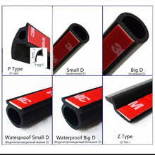 Car Door Seal Strip Rubber Small D Z P Type Big D Waterproof Trim Sound Insulation Soundproof Strip Auto Accessories Car-Styling(China)