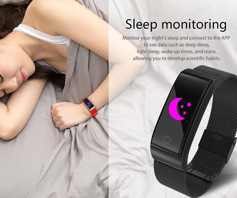 VERYFiTEK F4 Metal Smart Band Wristband Blood Pressure Heart Rate Monitor Men Women Fitness Watch Pedometer Smart Bracelet (17)