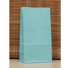 Zilue 50pcs Stand Up Kraft Paper Bags Pure Color 18*9*6cm Party Birthday Food Paper Kraft Seal Gift Packing Treat Bag Supplies(China)