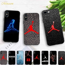 Minason Trend Coque Basketball Sport Air Jordan Soft Silicone Phone Case iPhone X 5s SE 6 S 6s 7 8 Plus Cover Fitted Housing