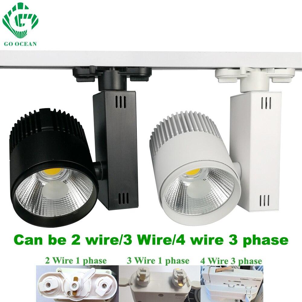 Go ocean track lighting led rail dimmable 20w shoes shop wire track light led rail lighting