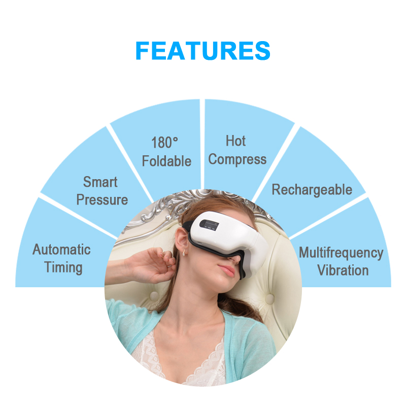 BIOSKIN Smart  Rechargeable Wireless Eye Massager Eye Health Care Machine Visual Protection Device  Vibration Relaxation Nursing
