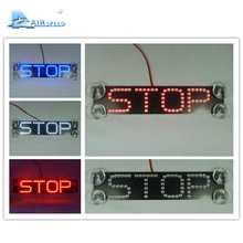"Airspeed Universal ""STOP"" Sign Brake Lights LED Brake Lamp Letter Warning Lights Car LED Refit with Suction Cups Car-styling"