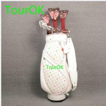 TourOK  womens Maruman FL complete clubs set Drive+fairway wood+irons Graphite Golf shaft and headcover  Free shipping