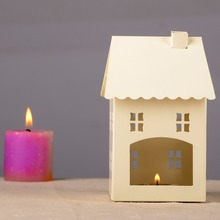 Candlestick  European style candleholder Retro house shape candler  iron ornaments Home decoration
