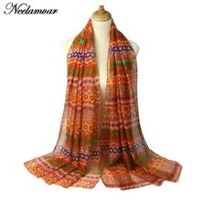 Autumn and Winter warm scarf women's hijab voild printing shawl and wraps 2016 New Special Print Adult Thin Long Design Scarves(China)
