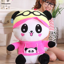 Giant Panda Bear Stuffed Animal Toy Soft Pillow Kawaii Brinquedos Anime Valentine Plush Toys Cute Panda Bear Plush Toy 70C0215(China)