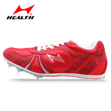 Health track and field for men spike nail shoes Student training sprint running shoes 2016 sneakers Men Sport Shoes size 33-45(China)