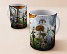 Cheshire Cat Alice in Wonderland coffee mugs printed travel novelty design tea cup decal cups Perfect Gifts drink mug