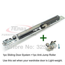 Armoire Hanging Wheel Sliding Door System Furniture Hardware Kitchen Cabinet Wardrobe Damper Buffer