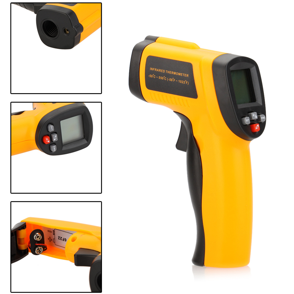 2016 Hot Sale GM550E Digital infrared Thermometer Pyrometer -50 to 550 Degree Aquarium laser Thermometer Outdoor thermometer<br>