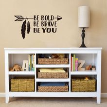 Be Bold, Be Brave, Be You Arrow Decal Wall Art Vinyl Sticker Lettering , Child Boy Vinyl Lettering Art Wall Decal, Boho, Aztec(China)