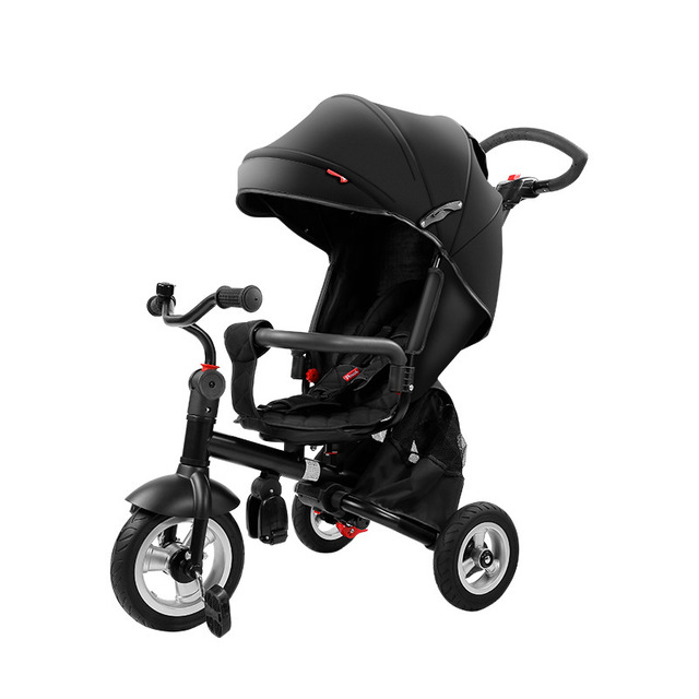 Pouch baby three wheels stroller children bicycle light folding and practical pram kids rain cover high quality for kids