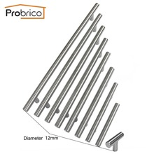 Probrico Cabinet T Bar Handle Diameter 12mm CC 50mm~320mm Stainless Steel Furniture Drawer Knob Kitchen Cupboard Door Pull