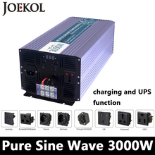 3000W Pure Sine Wave Inverter,DC 12V/24V/48V To AC110V/220V,off Grid Solar voltage converter With Panel Charger And UPS(China)