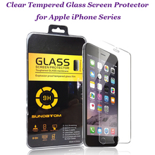 Ultra Thin Tempered Glass Screen Protector Saver for iPhone 4 4S 5 5S 5C 6 Plus Case Cover Coque with Retail Package
