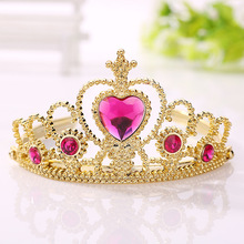 Buy cute princess crowns hairband birthday gift girls kids hair head hoop band headband accessories children tiara headdress for $1.29 in AliExpress store