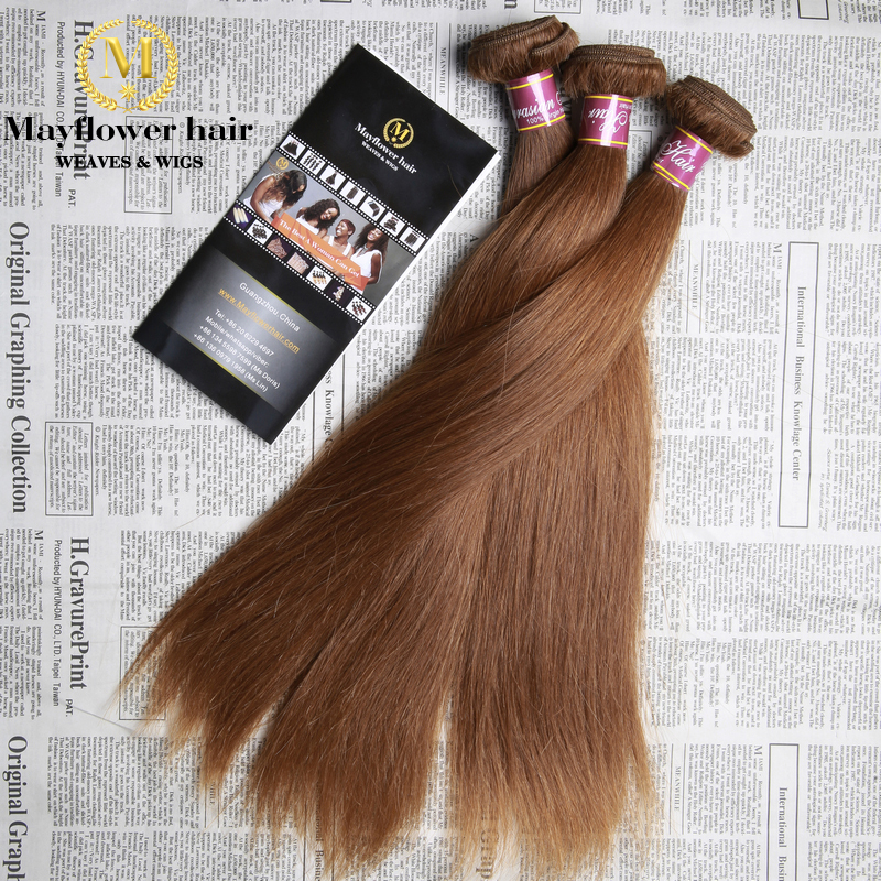 3pcs Blonde straight hair extensions color  #6 Top quality Mayflower blonde  human hair for fashion afro women can be restyle<br><br>Aliexpress