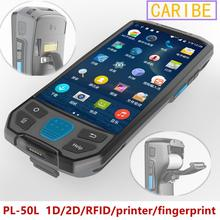 CARIBE PL-50L PDA Multi functions Wireless POS Terminal WIFI Bluetooth 1D 2D QR scanner GPS NFC UHF RFID(1-2M) Handheld Terminal(China)