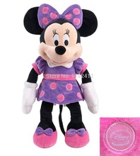 Original Minnie Mouse Plush Toy Purple 48cm 19'' Peluche Minnie Pelucia Cute Stuffed Animals Kids Toys for Children Girls Gift