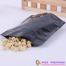 AISS-black,zip bag,black stand up zip lock bags,13x21cm,tea packaging,food saver,tea container,coffee container