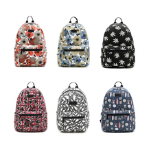 Brand Floral Printing Women School Bag Backpack For Teenage Girls Backpacks Canvas Children Schoolbag Women Book Bags(China)