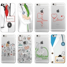 Nurse Medical Medicine Health Heart Soft TPU Phone Case Cover Coque Fundas For iphone 4S 5S 5C SE 6S 7 PLUS Samsung S3 S4 S5 S6