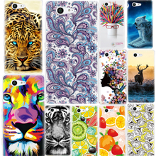 Cover For Sony Xperia XA X Z3 Z1 Compact Mini M4 Aqua Case Coque Soft TPU Phone Back Pattern Painted Patterned Shell Skin Cases