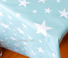 160cm*50cm  light blue star twill 100% cotton fabric duvet cover fabric  sewing baby clothes kids bedding patchwork tecido