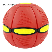 The New UFO Ball Step Ball Vent Ball Led UFO Magic Frisbee Ball Deformation Outdoor Toys Children's Gift(China)
