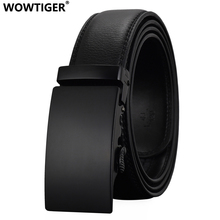 WOWTIGER Fashion Designers Men Automatic Buckle Leather luxury Belts Business Male Alloy buckle Belts for Men Ceinture Homme(China)