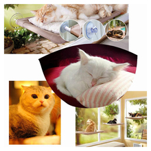 Practical washable mounted sunny window seat indoor cat hammock beds wall bed