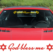 10 Pieces Mogen David Stickers Decal God bless me Car-Styling For vw volkswagen audi ford bmw opel Car accessories(China)