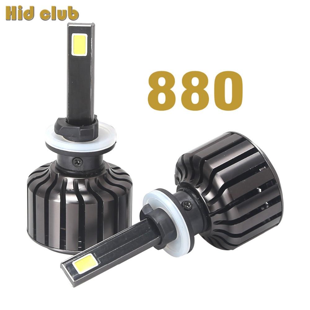 90W 9000LM Led Car External Lights 880 881 H27 Car Headlight Conversion Kit Bulb 6000K White COB LED 880 Driving DRL Fog Light<br><br>Aliexpress