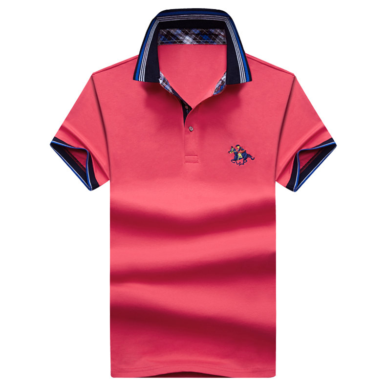 9Color Horse men quality cotton summer brand short golf riding man s male clothing 4XL large size Muls 2017 new arrival-05