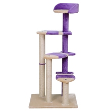 Funny Fish Shape Cat Toy Scratching Post Wood Climbing Tree Cat Toy Climbing Frame Cat Furniture Scratching Post Fun Highquality