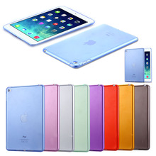 8 Colors Ultra Thin Slim Candy Back Cover Shell Case For Apple iPad Mini 4 Tablet Soft Silicon Clear Transparent(China)