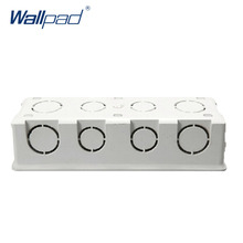 Mounting Box for 197*72mm Wall Switch and Socket Wallpad Cassette Universal White Wall Back Box Free Shipping(China)